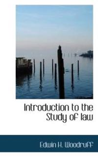 Introduction to the Study of Law