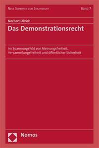 Das Demonstrationsrecht: Im Spannungsfeld Von Meinungsfreiheit, Versammlungsfreiheit Und Offentlicher Sicherheit