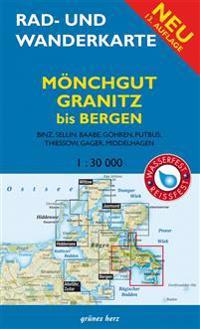 Rad- und Wanderkarte Mönchgut, Granitz, bis Bergen 1 : 30 000