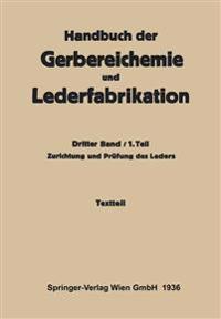Zurichtung Und Pr fung Des Leders -Textteil