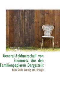 General-Feldmarschall Von Steinmetz