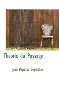 Theorie Du Paysage