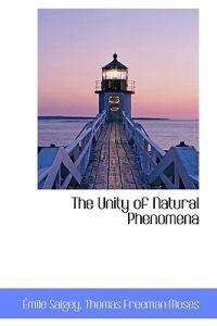 The Unity of Natural Phenomena