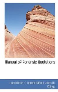 Manual of Forensic Quotations