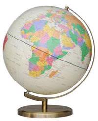 Insight Globe: Brass Antique Illuminated