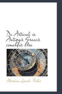 de Articuli in Antiquis Graecis Comoediis Usu