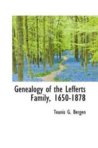 Genealogy of the Lefferts Family, 1650-1878
