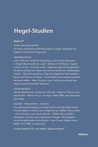 Hegel-Studien Band 27 (1992)