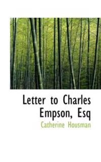 Letter to Charles Empson, Esq