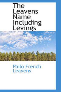 The Leavens Name Including Levings