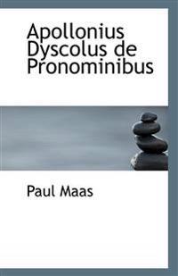 Apollonius Dyscolus de Pronominibus