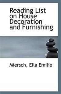 Reading List on House Decoration and Furnishing