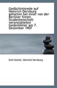Gedachtnisrede Auf Heinrich Dernburg Gehalten Bei Einer Von Der Berliner Freien Studentenschaft Vera