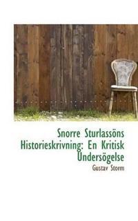 Snorre Sturlassons Historieskrivning