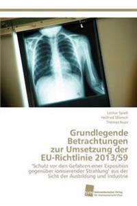 Grundlegende Betrachtungen Zur Umsetzung Der Eu-Richtlinie 2013/59