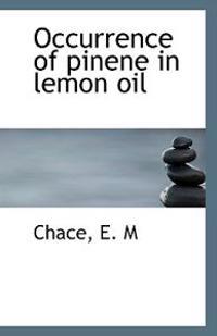 Occurrence of Pinene in Lemon Oil