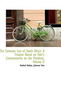 The Common Law of South Africa