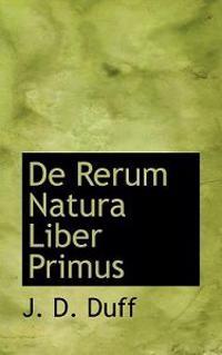 de Rerum Natura Liber Primus