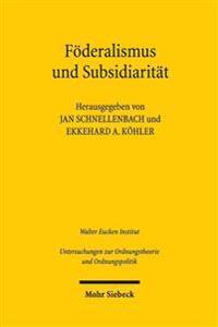 Foderalismus Und Subsidiaritat