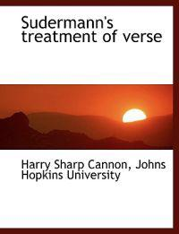 Sudermann's Treatment of Verse