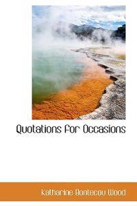 Quotations for Occasions