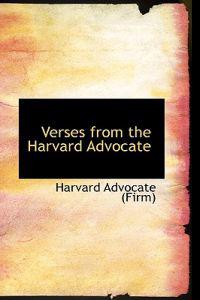 Verses from the Harvard Advocate