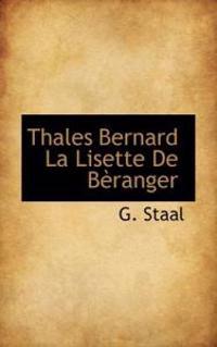 Thales Bernard La Lisette De Beranger