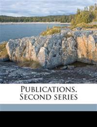 Publications. Second series Volume 5