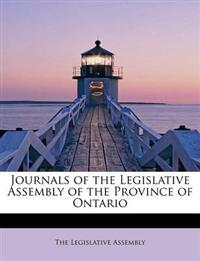 Journals of the Legislative Assembly of the Province of Ontario