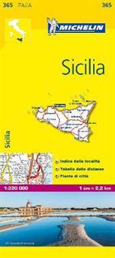 Sicily Michelin 365 delkarta Italien : 1:200000