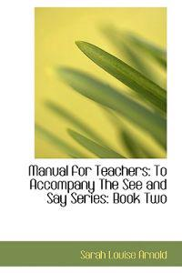 Manual for Teachers