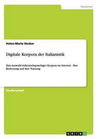 Digitale Korpora Der Italianistik