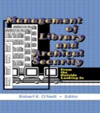 Management of Library and Archival Security