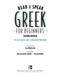 Read and Speak Greek for Beginners, 2nd Edition