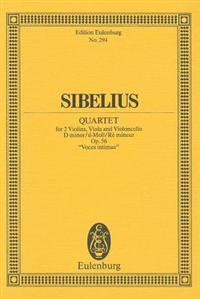 "String Quartet in D Minor, Op. 56 ""Voces Intimae"""