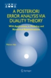 Posteriori Error Analysis Via Duality Theory