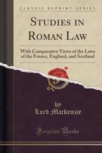 Studies in Roman Law
