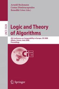 Logic and Theory of Algorithms