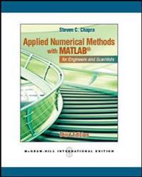 Applied numerical methods w/matlab (intl ed)