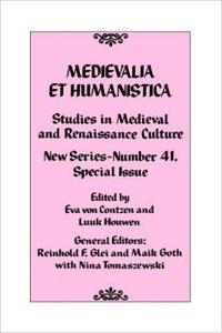 Medievalia et Humanistica, No. 41