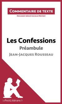 Les Confessions de Rousseau - Preambule