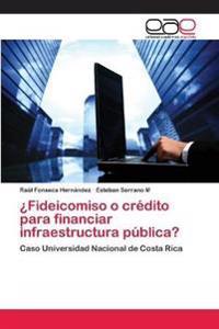 Fideicomiso O Credito Para Financiar Infraestructura Publica?