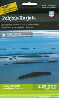 Pohjois-Karjala retkeilykartta 1:25 000