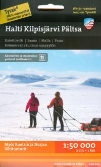 Halti-Kilpisjärvi-Pältsa tunturikartta 1:50 000