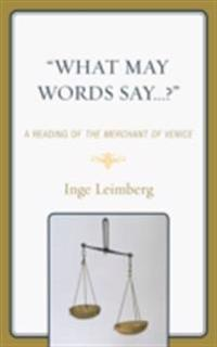'What May Words Say . . . ?'