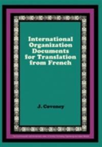 International Organization Documents for Translation from French
