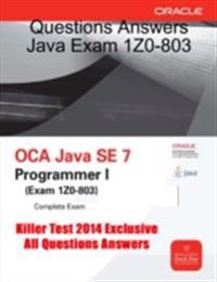 Questions Answers Java Exam 1Z0-803
