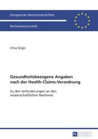 Gesundheitsbezogene Angaben nach der Health-Claims-Verordnung
