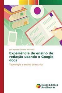 Experiencia de Ensino de Redacao Usando O Google Docs