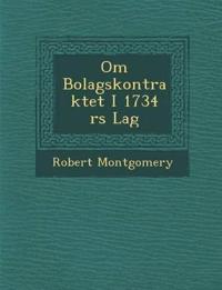 Om Bolagskontraktet I 1734 ¿rs Lag